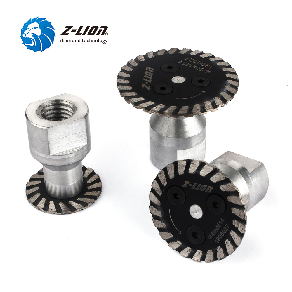 Z-LION 30/40/50mm Diamond Saw Blade With Removable Flange M14 5/8-11 Engraving Cutting Disc Carving Concrete Granite Sandstone