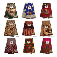 African Ankara Fabric High Quality Veritable Wax Print Printing 100% Polyester For Dress