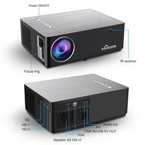 Image 5 - Vivicine Proyector de cine en casa 2020 M20, opción de Android 1080, x 1920 9,0, Full HD, LED, vídeo Multimedia, 1080p