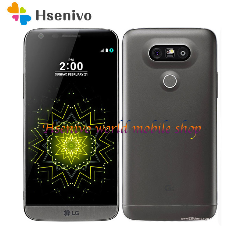 Original Unlocked LG G5 H840 Quad Core 5.7 Inches 4GB RAM 32GB ROM WIFI GPS 16.0MP 13.0MP LTE 4G Mobile Phone|Cellphones| |  - title=