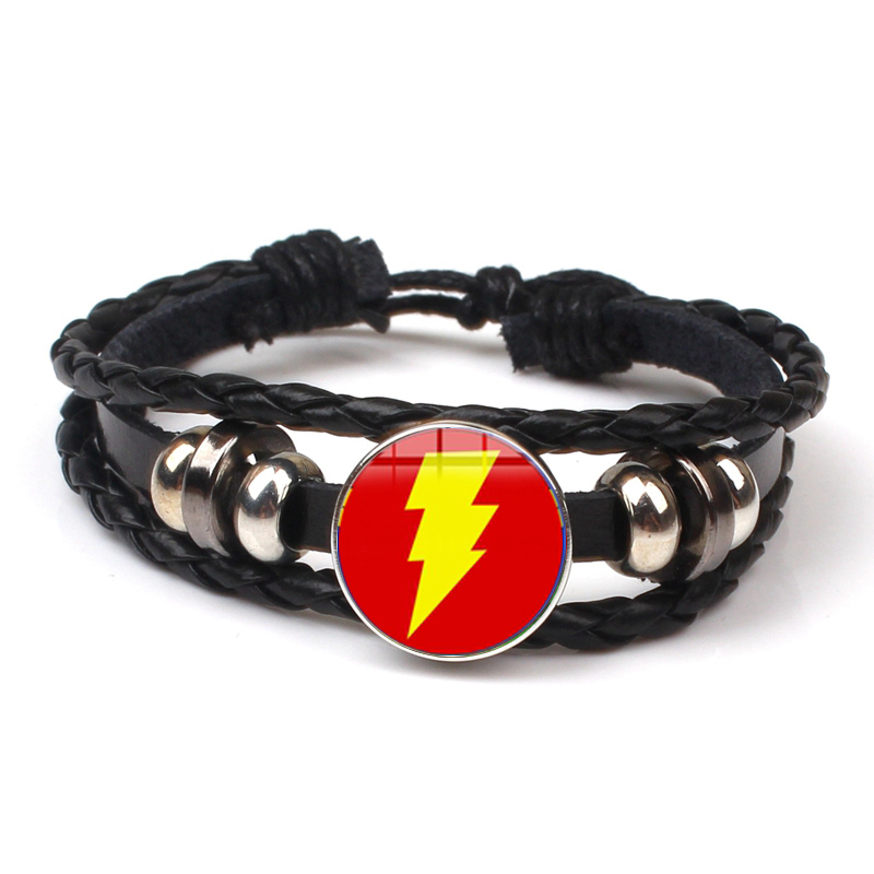 Fashion Captain America Shield Amulet Bracelet Child Boy Punk Multilayer Leather Bracelet Avengers Movie Jewelry Fan Souvenirs in Bangles from Jewelry Accessories