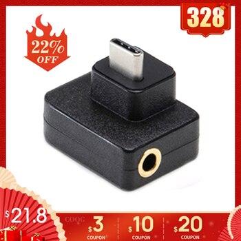 Cynova dji osmo ação microfone 3.5mm/USB-C adaptador de áudio externo 3.5mm mic montagem para trs plug dji osmo ação acessórios