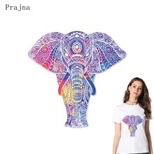 Prajna Cartoon Transfer Iron On Transfers For Clothes Elephant Cat Heat Patches Clothing Stickers Stripe