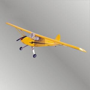 Image 1 - J3 電動リモートコントロール航空機すべての光 wood 固定翼のような航空機グライダー模型飛行機 8