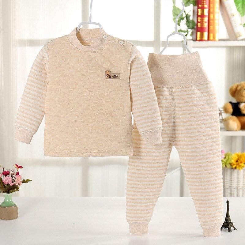 Conjunto de Pijamas de Ropa Interior t/érmica Conjunto de 2 Piezas 73-110CM Ropa de algod/ón para ni/ños y ni/ñas para ni/ños