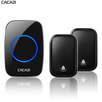 CACAZI Wireless Waterproof Self-powered Doorbell No Battery Required Transmitter 1 2 3 Receiver US EU UK AU Plug Home Call Bell
