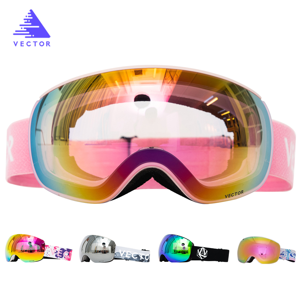 Magnets OTG Ski Goggles Snowboard Anti-fog Snow Glasses Interchangeable Spherical Lenses Skiing Men Women