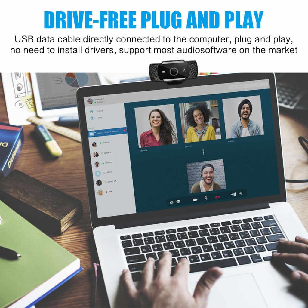 Веб-камера STARSHINE 1080p full hd веб-камера для ПК настольный компьютер USB Автоматическая фокусировка 60FPS камера ночного видения с микрофоном