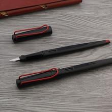 classic straight line long Fountain Pen Dark black red EF nib Stationery Office school supplies Writing