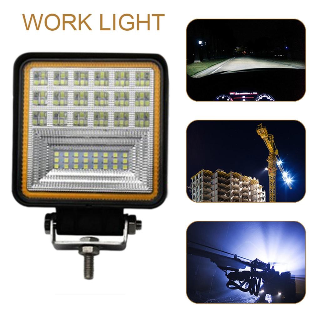126W 45MM Car Led Work Light Auxiliary Spotlight Motorcycle Fog Lamp Truck Forklift Lamp Square With Aperture