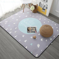 Nordic Style Star Printed Carpet Kids Room Cartoon Floor Rug Soft Baby Playing Crawling Carpets for Living Room Bedroom Rugs
