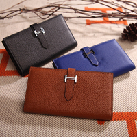 GOODINC Luxury Wallet Ladies Wholesale Money Cards Holder Coins Purse Genuine Leather Women Girls Long Wallet