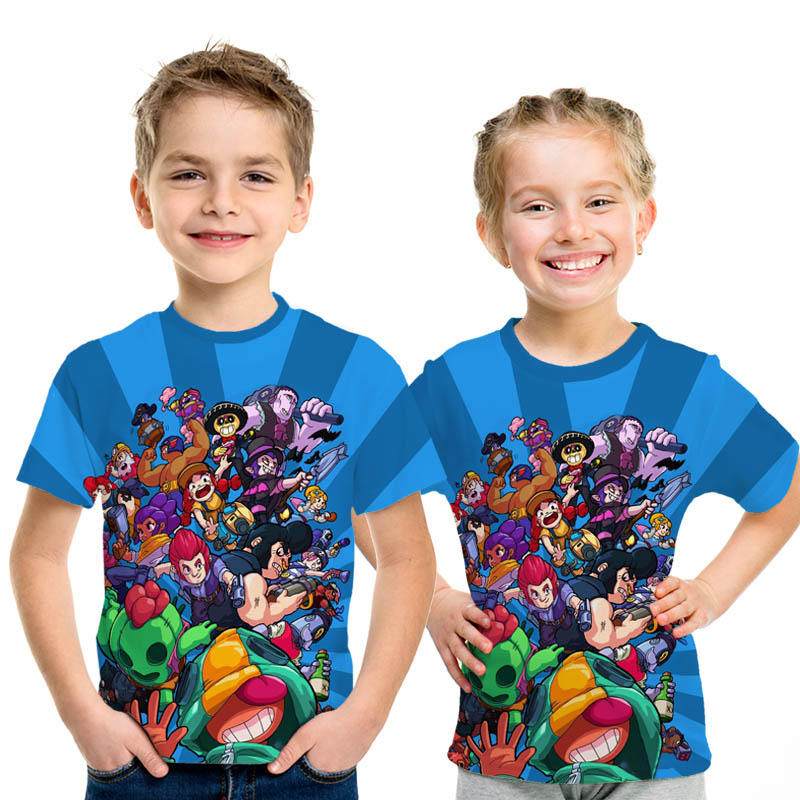 Kids New 6 7-8 9-11 12 Year Shooting Game T-shirt 3D Printed  Boy Girl Funny T-shirts Costume Children Clothing Kids Tees Baby