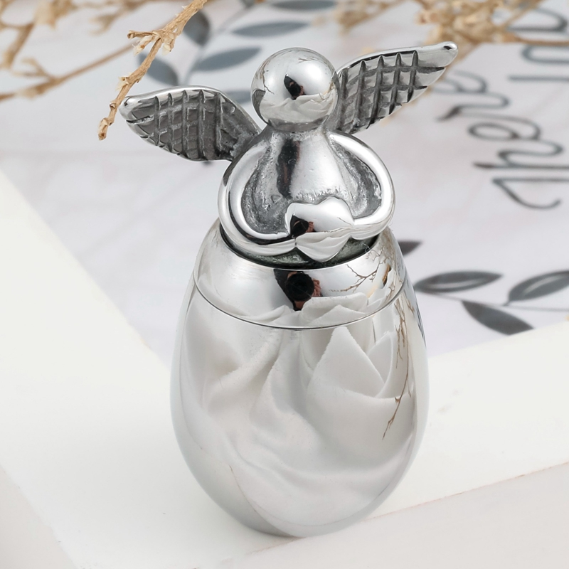 Angel Wings With Heart Mini Urns For Human Ashes Holder For Ashes Alloy Metal Cremation Memorial Pet Dog Cat Bird Ash