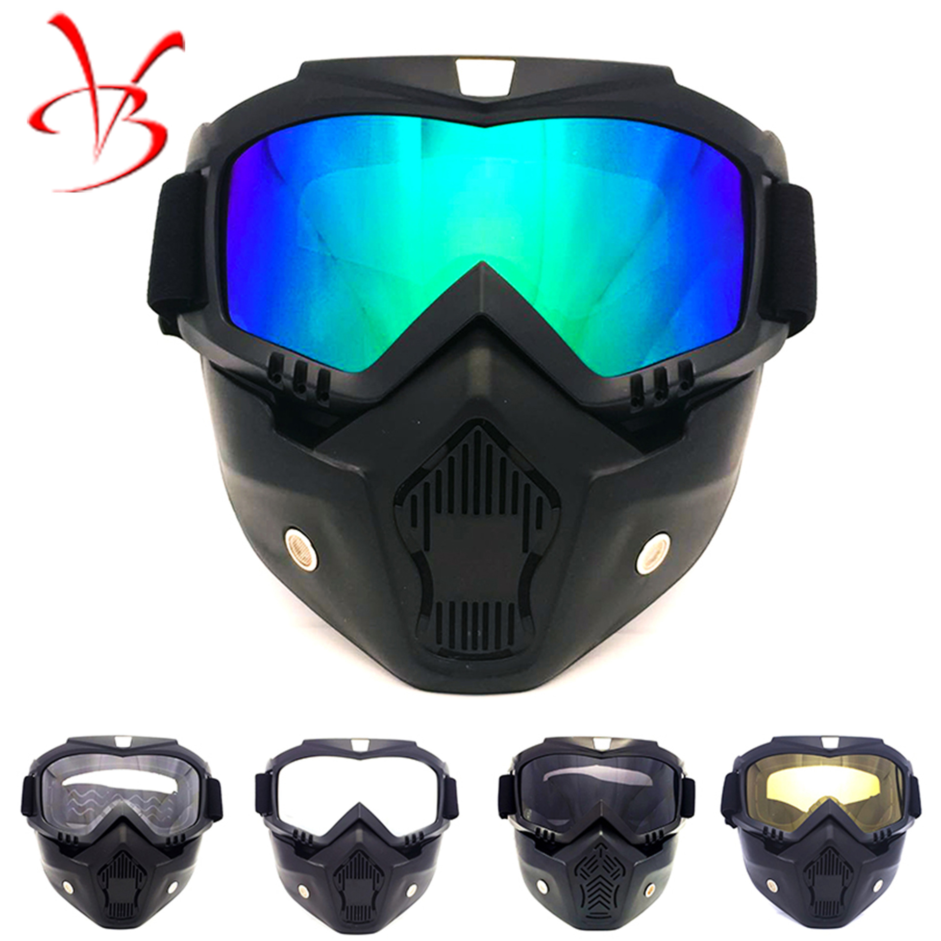 Harley Retro Mask Goggles Scrambling Motorcycle Race Car Eye-protection Goggles Outdoor Glasses For Riding Skiing