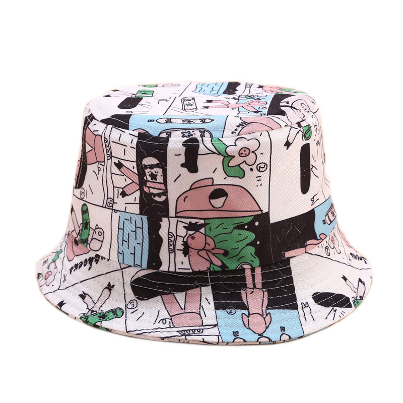 2020 Cartoon Pig Bucket Hat For Women Female Fisherman Hat Panama Bob Hat Summer Sun Hat For Girl Friend Gift