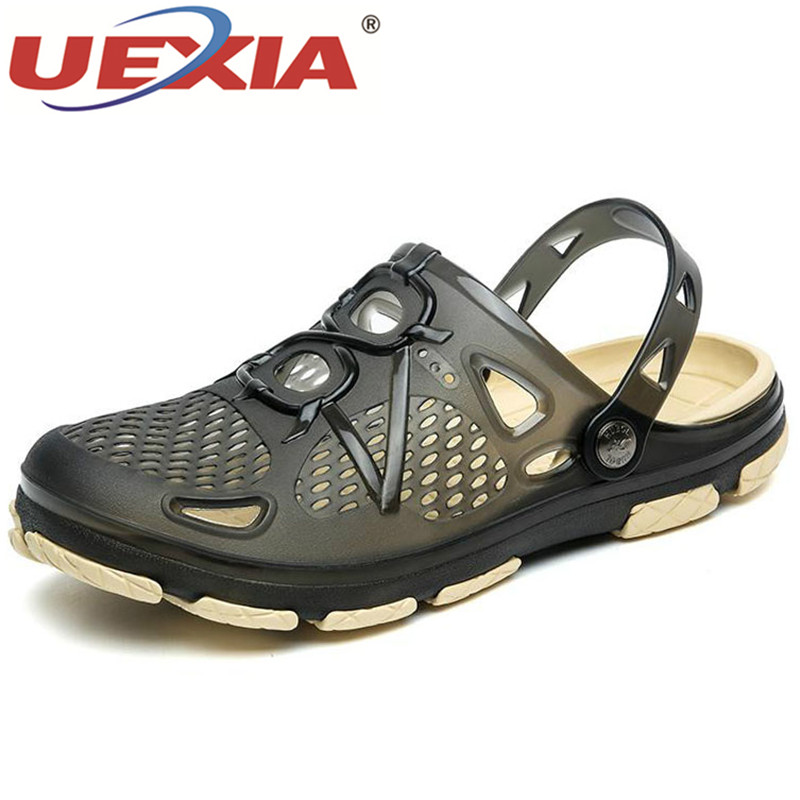 UEXIA 2020 Slippers Men Flats Shoes Sandals Breathable Casual Outdoor Flats Flip Flops Non-Slip Beach Big Size Fashion Footwear