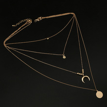 Necklace Pendants Torques Fashion Jewelry Silver-Color Golden Women Moon for Velvet NEW
