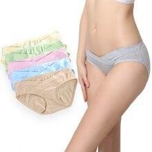 5 шт., удобные для кожи трусы для беременных из хлопка, Нижнее Белье для беременных, мягкие трусики для беременных, дышащие женские трусы для беременных 3XL