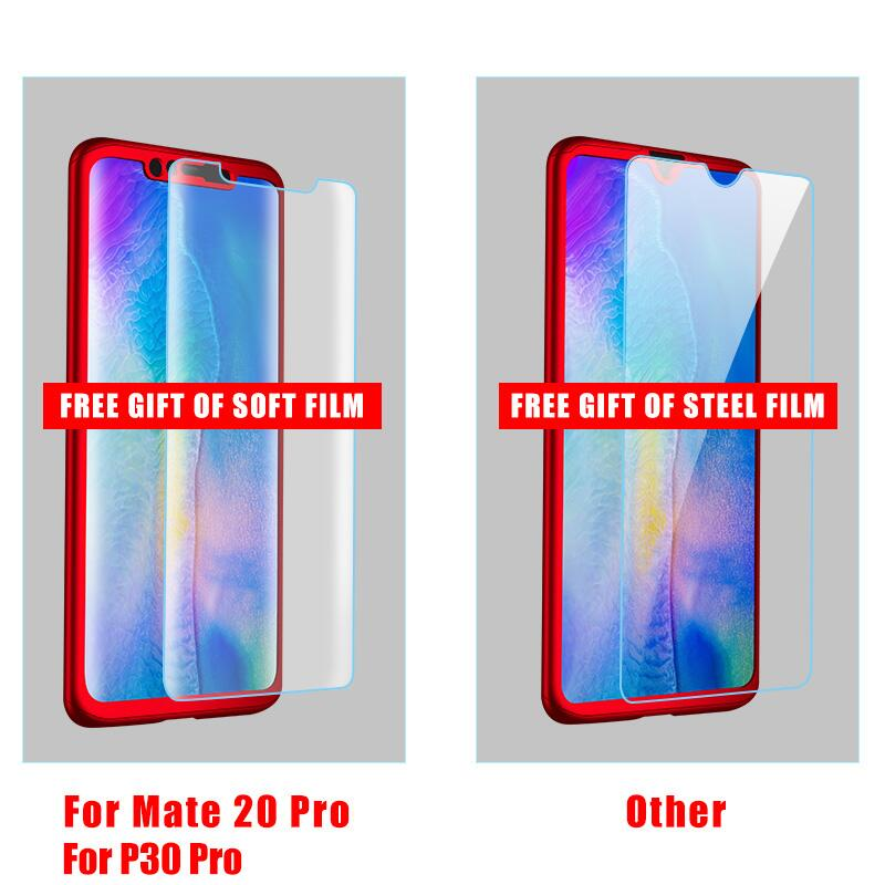 360 Full Cover Phone Case For Huawei P40 Lite P30 P20 Pro P10 Lite Mate 20 10 Lite Pro With Tempered Glass Case Capa Hard Shell 2