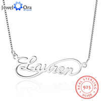 Infinity Love Nameplate Necklace 8 Shape Personalized 925 Sterling Silver Russia Name Necklace Gift For Wife(JewelOra NE101629)