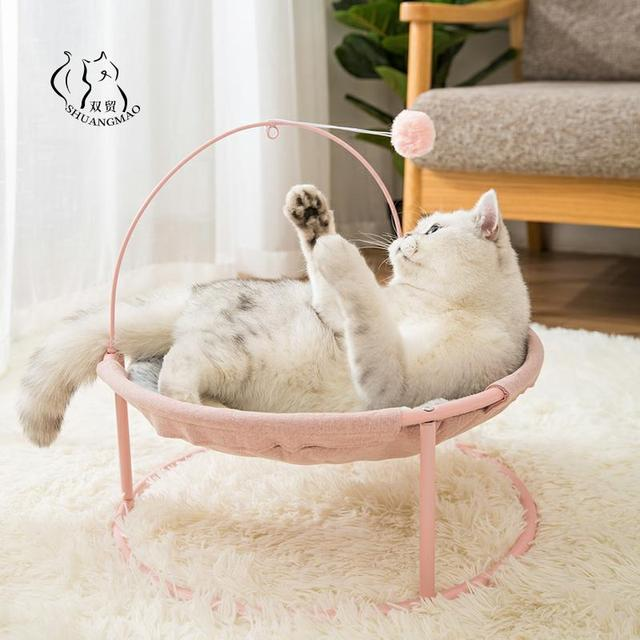 Hot Sale Pet Hammock Cats Beds Indoor Cat House Mat for Warm Small Dogs Bed Kitten Window Lounger Cute Sleeping Mats Products 1