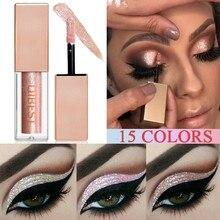 Liquid Eyeshadow Shimmer Glitter Metallic Professional-Eye Easy-To-Makeup Waterproof