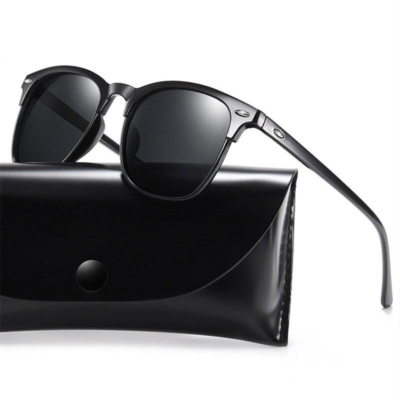 ZXWLYXGX Polarized Sunglasses Men 2021 Retro Mirror Square Sunglasses Vintage Anti-Glare Driver