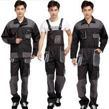 Salopette à bretelles hommes combinaisons de travail réparateur de protection sangle combinaisons pantalons uniformes de travail grande taille 4XL combinaison sans manches