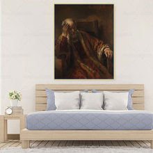 Citon Canvas Rembrandt《An Old Man in an Armchair》Art Oil Painting Artwork Poster Picture Modern Wall Decor Home Decoration woman seated in an armchair by picasso canvas painting print living room home decor modern wall art oil painting poster artwork