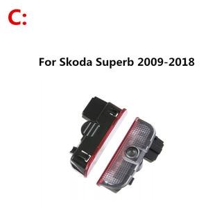 Image 4 - 2PCS 자동차 LED 문 로고 레이저 프로젝터 유령 그림자 환영 빛 Skoda Octavia A5 2005 2011 2012 2013 Superb Febia Roomster