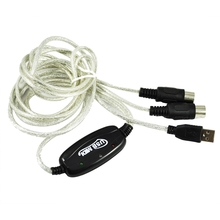 USB MIDI Cable Converter PC to Music Keyboard Window Win Vista XP, Mac OS