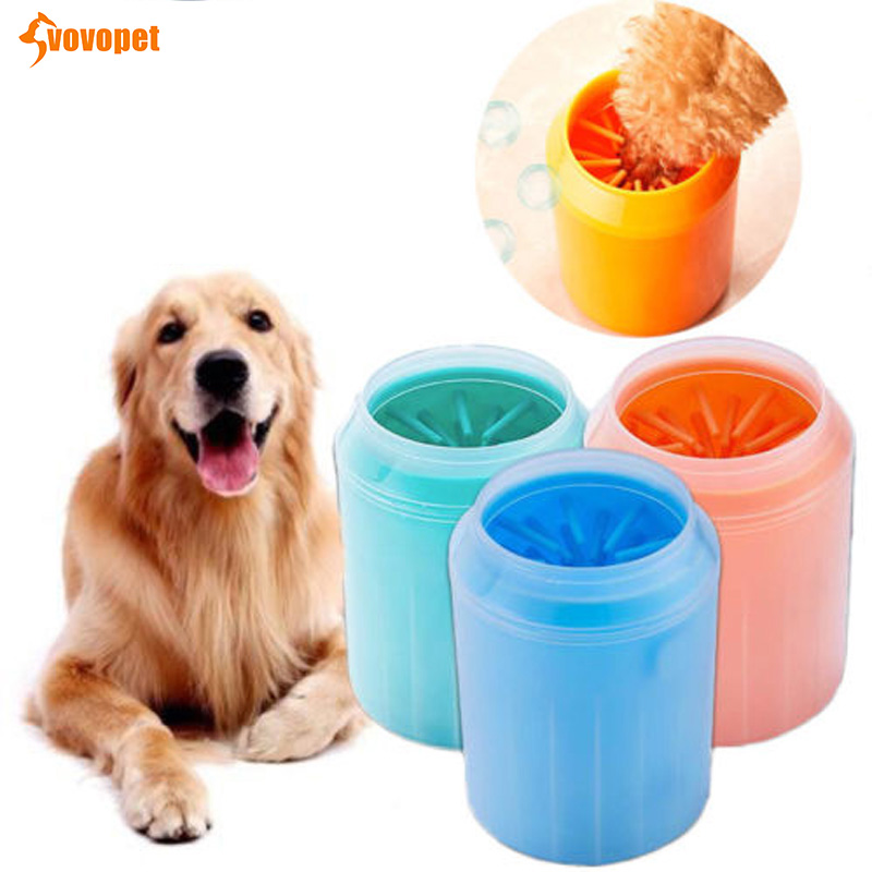 VOVOPET Pet Cats Cleaner Soft Silicone Combs Solid Dogs Foot Clean Cup Portable Cleaning Dirt Dog Washer