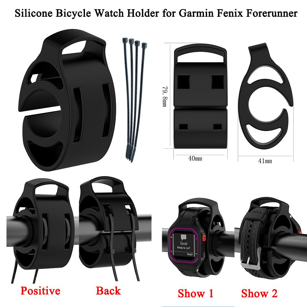 Silicone Watch Mount Type Bicycle Watch Holder Bicycle Handlebar For Approach S1 S3 Fenix Foreru