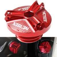 For Honda NC750X 2014-2015 NC750 NC 750 X 750X CNC Aluminum Motorcycle Motorbike Oil Filler Cap Plug Engine Oil Fill Cup Cover