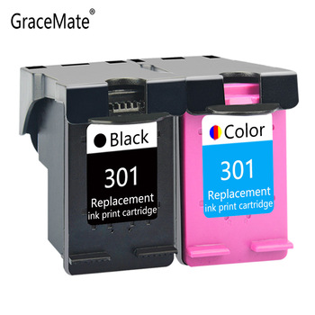 GraceMate Ink Cartridge Replacement for HP 301 Deskjet 1050 2050 2050s 3050 for Envy 4500 4502 4504 5530 5532 5539 3510 Printer black ink cartridge for hp 301 xl 301xl ink cartridge for hp deskjet 1050 2050 3050a printer