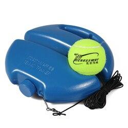 Herramienta de entrenamiento de tenis de alta resistencia con cuerda elástica, práctica de pelota, dispositivo de entrenamiento de tenis de rebote de autoservicio