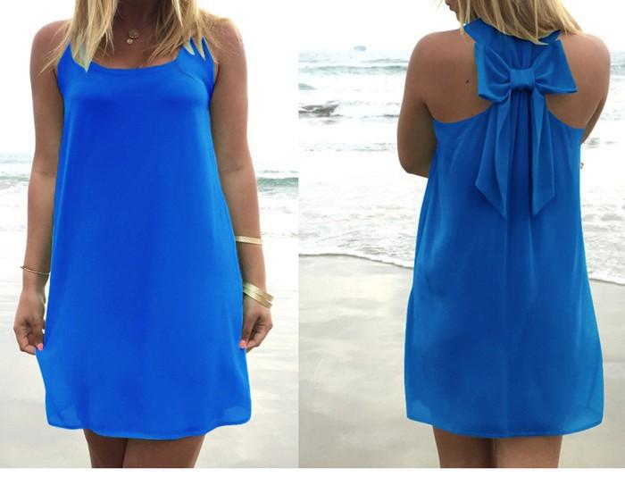 Летнее платье, Летний стиль, Женский Повседневный Сарафан размера плюс, женская одежда, Пляжное платье, шифоновое женское платье - Цвет: Dark blue