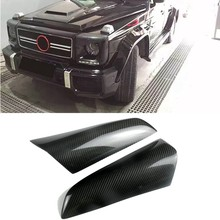 Carbon Fiber Front Headlights Eyebrow Eyelid Sticker for Mercedes Benz G Class W463 G500 G55 G63 G65 1990-2018(China)