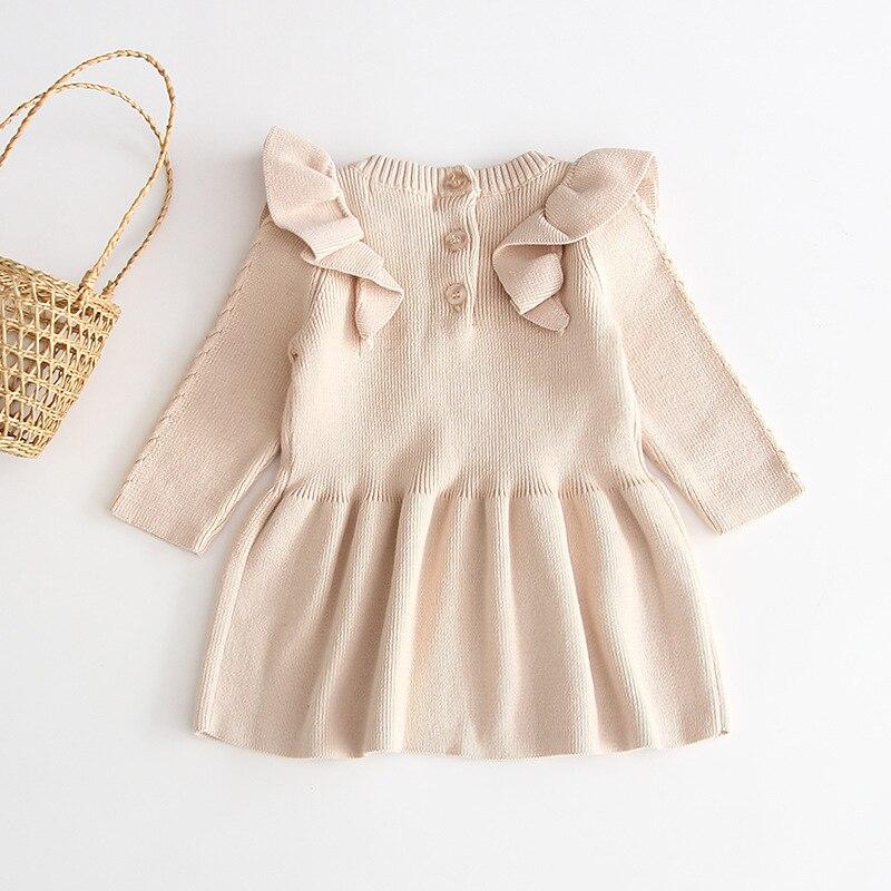 H98c7d6dea27d40b6875338b063e09fca8 Girls Knitted Dress 2019 autumn winter Clothes Lattice Kids Toddler baby dress for girl princess Cotton warm Christmas Dresses