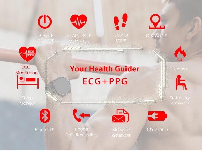 Montre Sport North Edge ECG + PPG, controle de fréquence cardiaque et de pression artérielle