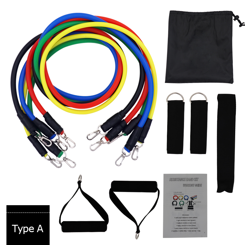 YOUGLE 11pcs /set Resistance Bands Set Latex Tubes Pull Rope With Door Anchor Handles Ankle Straps For Training Physical Therapy