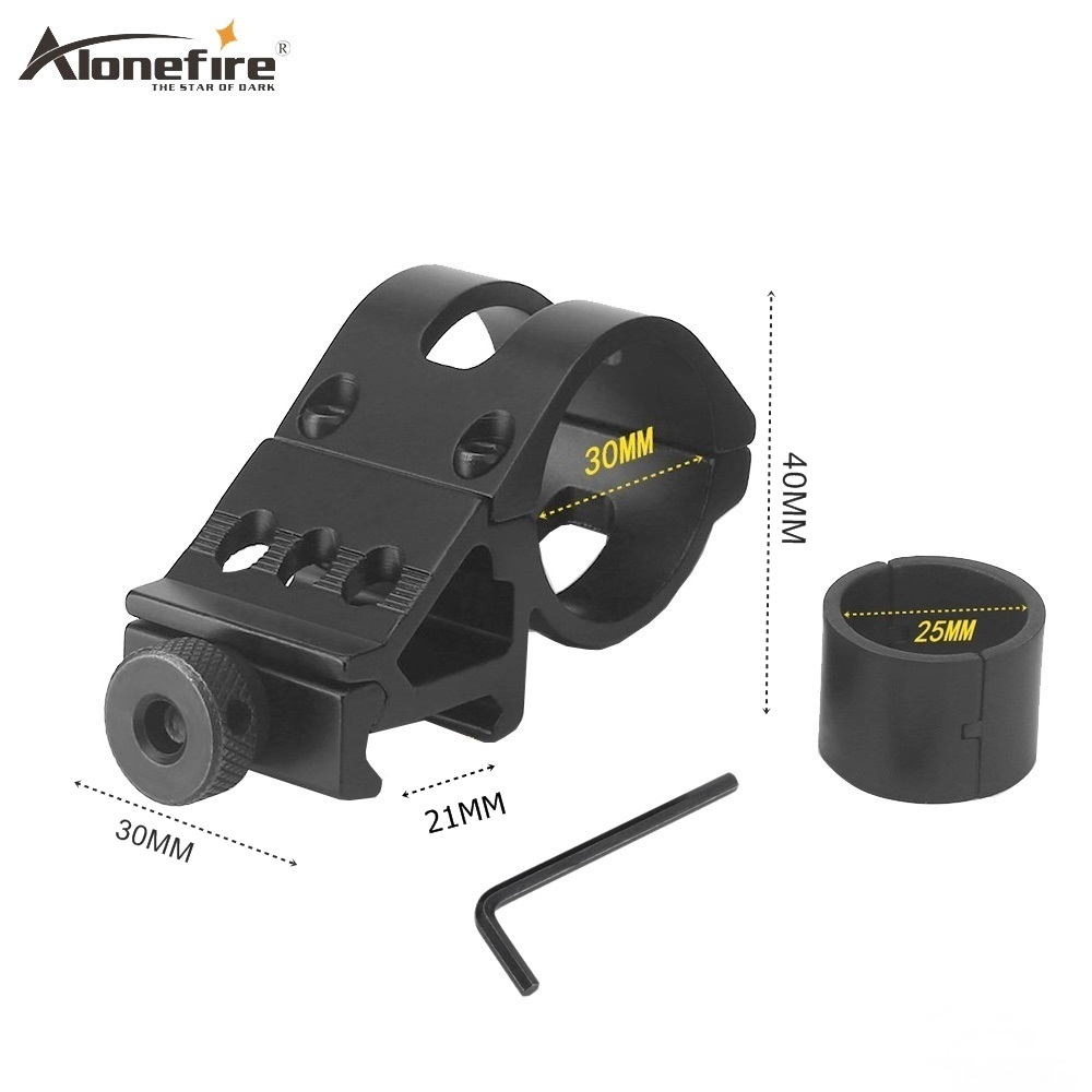 AloneFire T3008 25 Or 30mm Ring Picatinny 21mm Weaver Rail Airsoft Rifle Shot Gun Light Laser Sight Scope Hunting Holder Mounts