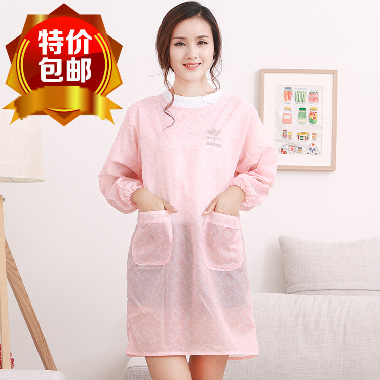 New Style Korean-style Cute Apron Kitchen-Style Anti-Transparent Oil Adult Waterproof Smock Protective Clothing Volkswagen Hipst