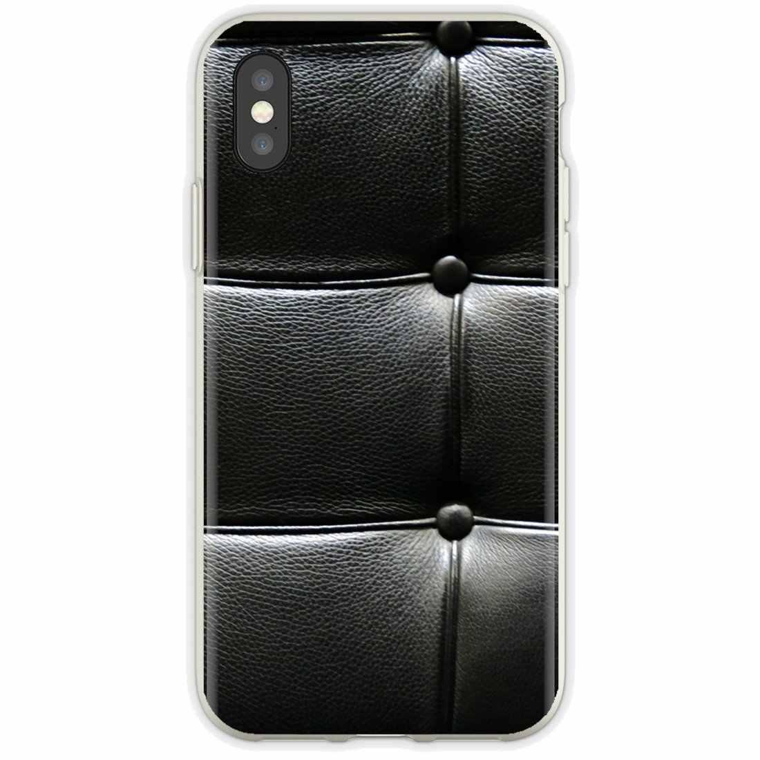 Suave funda para Xiaomi Mi5 Mi5S Mi6 Mi3 Mi4 Mi4i Mi4C Redmi nota 2 3 3S 5 5A 6 6A Pro texturas de cuero