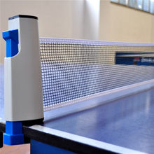Filet de Ping-Pong rétractable grille de Table en plastique maille forte Kit de filet Portable support de filet remplacer le Kit pour jouer au Ping-Pong(China)