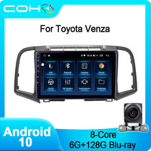 Für Toyota Venza Navigation Auto Dvd-Multimedia-Player Radio Android 10,0 Octa Core 6 + 128G