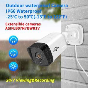 Image 4 - Hiseeu Kit de NVR POE de 8 canales, 5MP, H.265, sistema de cámaras de seguridad, cámara IP de grabación de Audio AI, para exteriores, impermeable, P2P, juego de videovigilancia