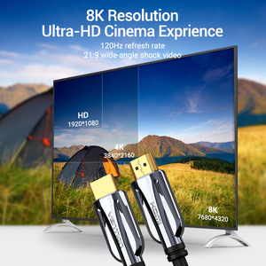 Image 4 - Vention HDMI Cable HDMI 2.1 Cable 8K@60Hz 4K@120Hz Ultra High Speed 48Gbps for PS4 Mi TV Box Splitter Digital HDR HDMI 2.1 Cable