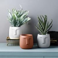 Cement pot flower vase home decoration accessories modern ceramic vase for Flowers Pot planters